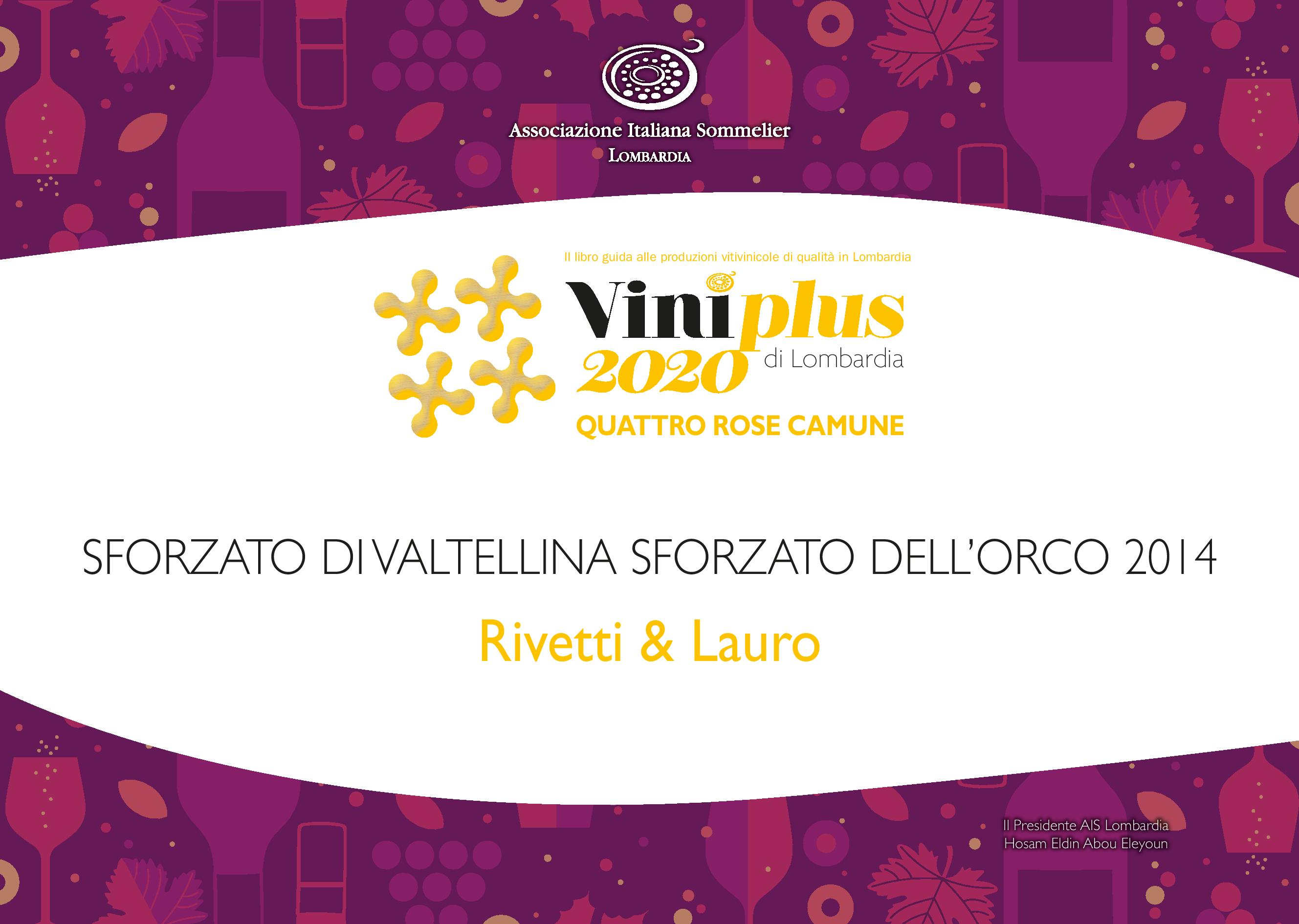 Vini Plus 2020 - 4 Rose Camune