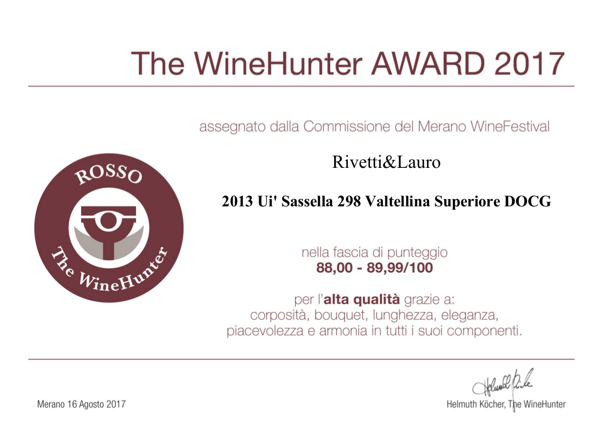 The WineHunter Award 2017