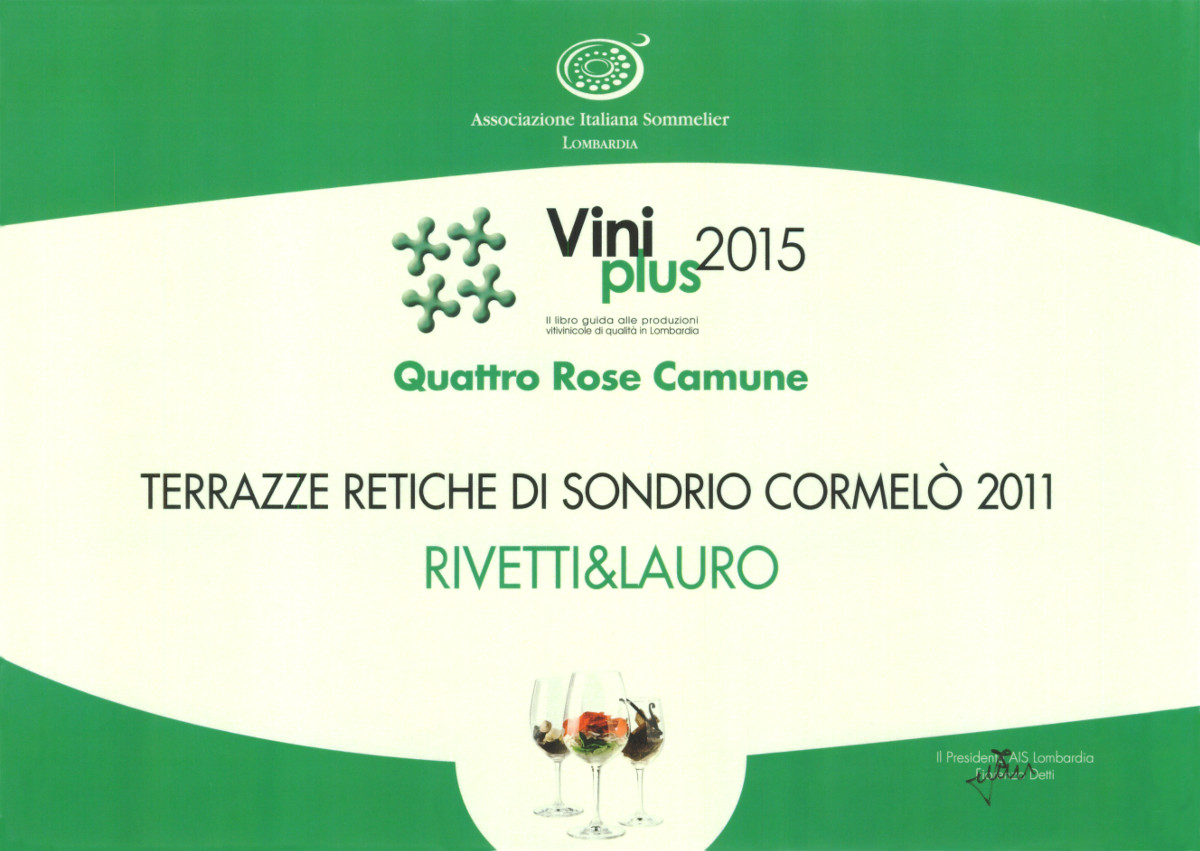 Vini Plus 2015, Quattro Rose Camune